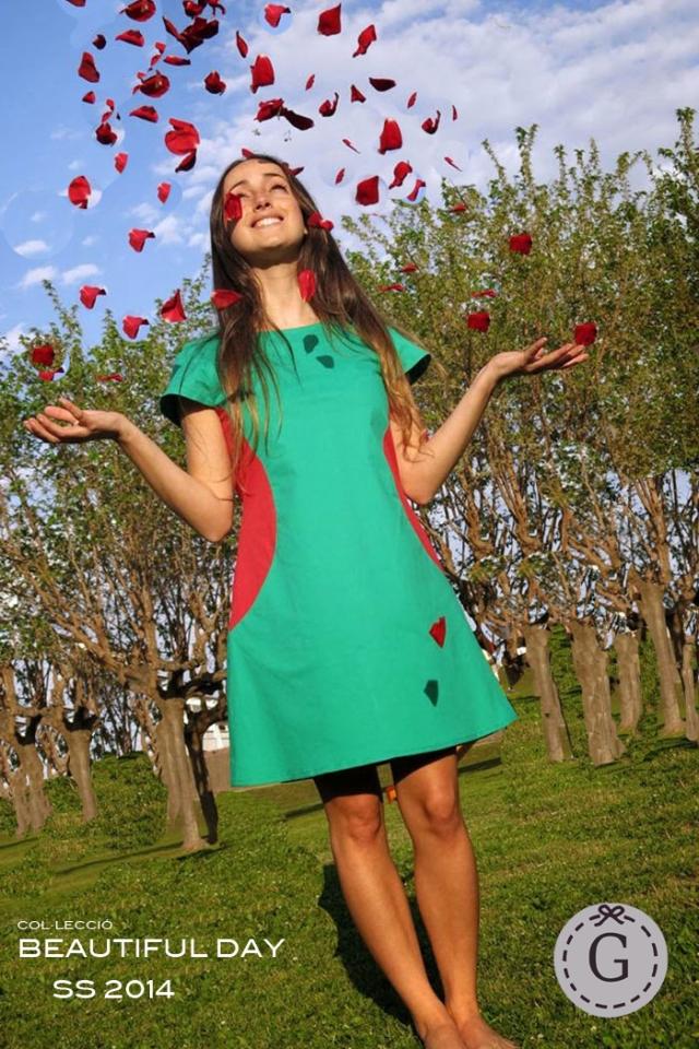 vestido paseo bd verde
